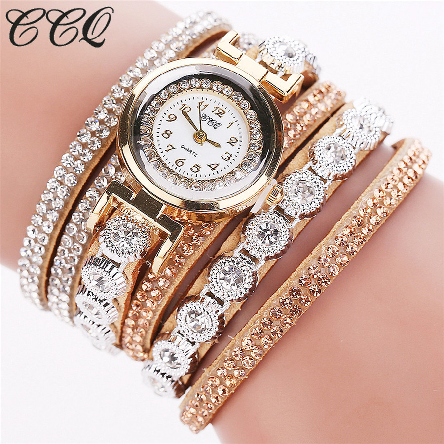 8543d2ad9f5 CCQ Brand Women Rhinestone Bracelet Watches Ladies Quartz Watch Fashion  Casual Women Dress Wristwatch Relogio Feminino